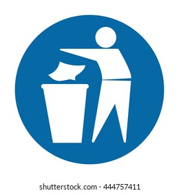 Keep This Area Litter Free Mandatory Sign