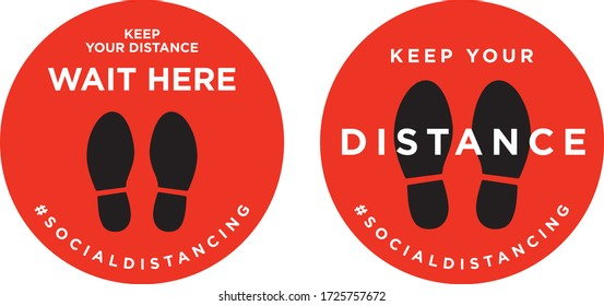 Keep your distance signage icon