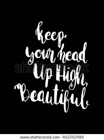 Keep Your Head High Beautiful Woman Stock Vector Royalty Free
