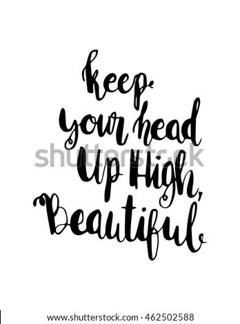 Keep Your Head High Beautiful Woman Stockvector Rechtenvrij