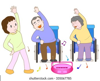 Keep-fit of the elderly person