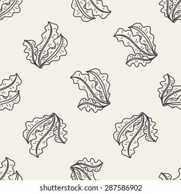 Kelp doodle seamless pattern background