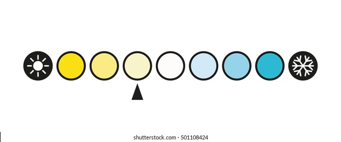 Kelvin Color Temperature Scale Chart led light - vector illustration.