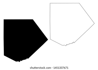 Kendall County, Texas (Counties in Texas, United States of America,USA, U.S., US) map vector illustration, scribble sketch Kendall map