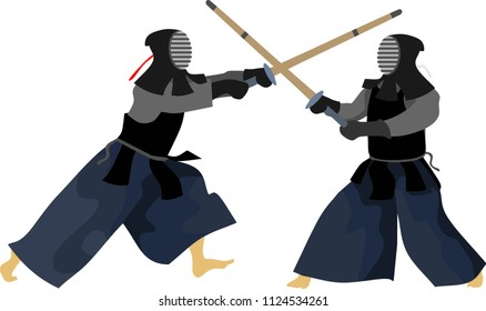Kendo Sport Tournament Vector Illustration