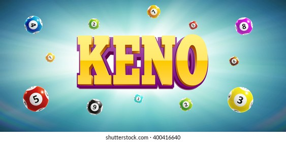 keno lottery balls and place for text