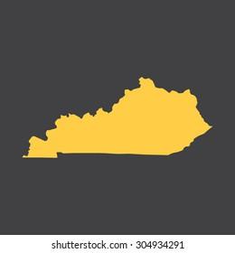 Kentucky border,map. Vector illustration EPS8.