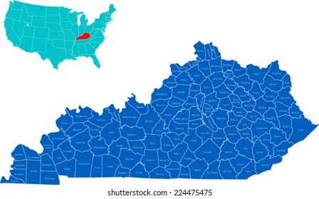 Kentucky County Map Images, Stock Photos & Vectors ... on tennessee map by county, map of counties in n d, map of kentucky county seats, map georgia by county, map of all counties in kentucky, google map of kentucky county, map of allen county kentucky, map of kentucky public hunting land, map of kentucky only, map of ohio, map of breathitt county kentucky, map of kentucky counties with names, map of southern california by counties, map of kentucky highways 163, map of ky, map of the counties in kentucky, south carolina map by county, ky map by county, map of kentucky with city names, map of kentucky cities,
