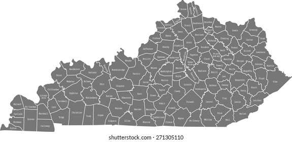 Kentucky County Map Images, Stock Photos & Vectors ...
