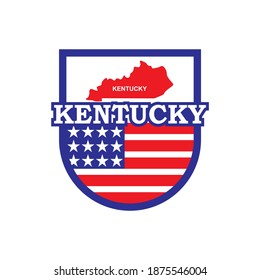 Kentucky Map Vector , United States Logo