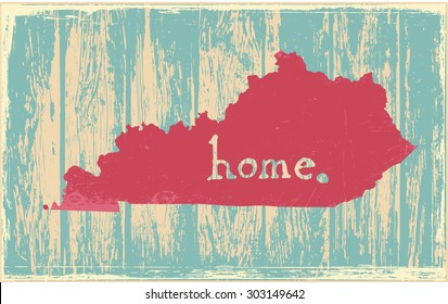 Kentucky nostalgic rustic vintage state vector sign