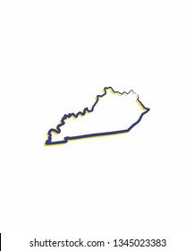 Kentucky Outline Logo Icon 001