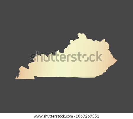 Kentucky State USA Map Vector Outline Stock Vector (Royalty Free ...