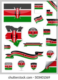 Kenya Flag Set - Vector Collection