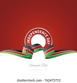 Kenya Independence Day ribbon logo icon vector