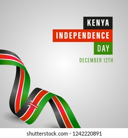Kenya Independence Day Vector Template Design Illustration