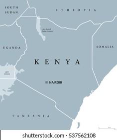 Kenya Map Images, Stock Photos & Vectors   Shutterstock