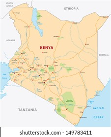 Kenya Map Images Stock Photos Vectors Shutterstock