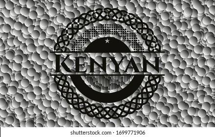 Kenyan dark badge with bubbles background. Vector Illustration. Detailed.