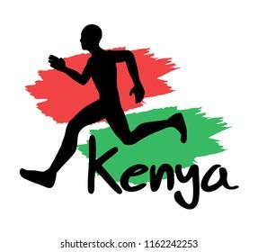 Kenyan runner symbol design