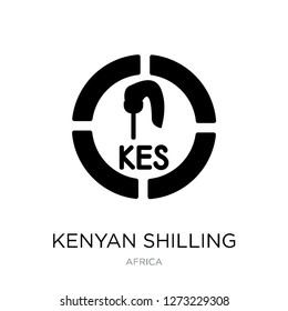 kenyan shilling icon vector on white background, kenyan shilling trendy filled icons from Africa collection, kenyan shilling simple element illustration