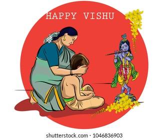 Kerala festival vector
