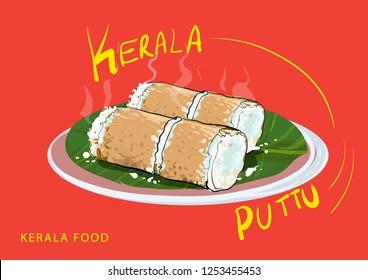 kerala food illustration vector