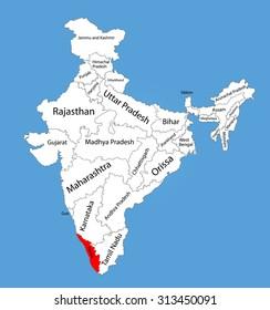 India Map Malayalam on kerala political map, kerala road map, karnataka tourism map,