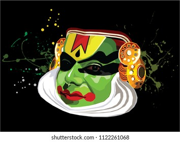 Kerala Perform Art, Dance, Kerala, Indian Dance, Green, Colourfull