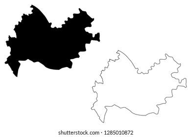 Kermanshah Province (Provinces of Iran, Islamic Republic of Iran, Persia) map vector illustration, scribble sketch Kermanshah map