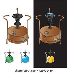 kerosene stove vector