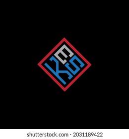 KES Unique abstract geometric vector logo design