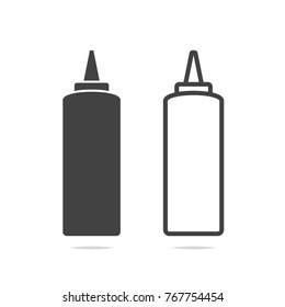 Ketchup and mustard icon vector