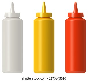 Ketchup mustard mayo squeeze bottle
