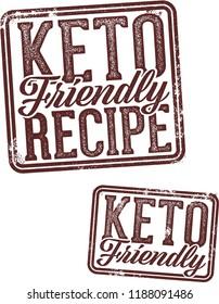 Keto Friendly Diet Recipe Stamp
