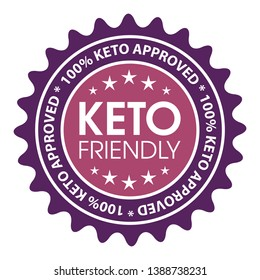 Keto friendly food product label.