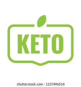 Keto. Vector badge, mark, symbol illustration on white background.