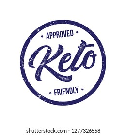 Ketogenic Diet Approved Product Stamp Vector Illtration