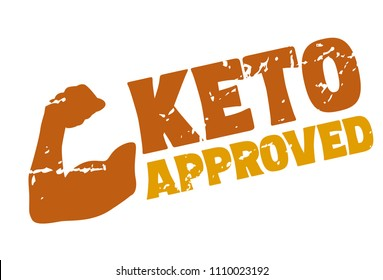 Ketogenic Diet Certified Rubber Stamp, Vector
