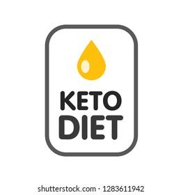 Ketogenic diet logo sign keto icon stamp illustration