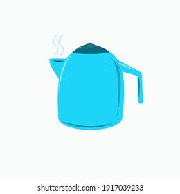 Kettle for boiling water kitchen home. Isolated element on a white background.