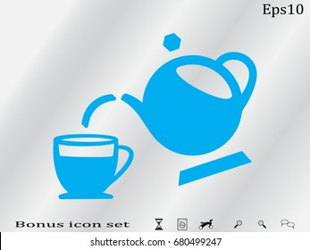 Kettle, cup, icon, vector illustration of Eps10