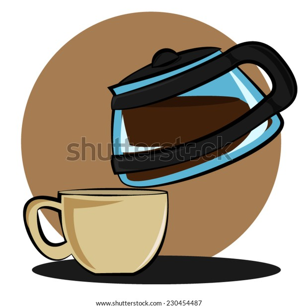 kettle serving coffee in a cup