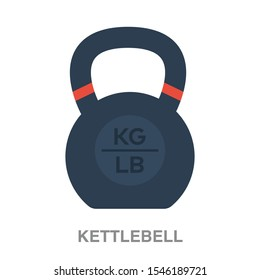 Kettlebell flat icon on white transparent background. You can be used kettlebell  icon for several purposes.