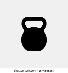Kettlebell icon logo design. simple flat vector illustration