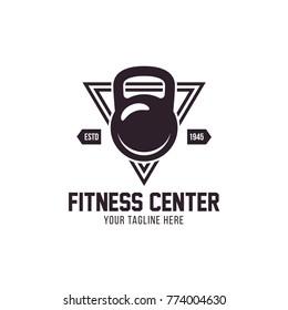 kettlebell vector design template, Fitness Logo