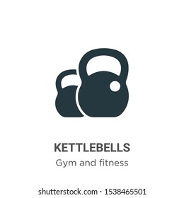 Kettlebells vector icon on white background. Flat vector kettlebells icon symbol sign from modern gym and fitness collection for mobile concept and web apps design.