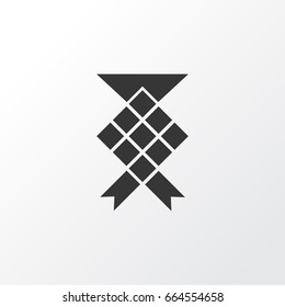 Ketupat Icon Symbol. Premium Quality Isolated Malay Element In Trendy Style.