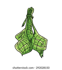 ketupat, indonesian traditional food, usually for aidil fitri celebration