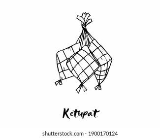 Ketupat sketch Design Vector  Illustration